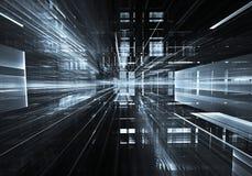 Fractalkunst - Bild des Computers 3D, technologischer Hintergrund Lizenzfreie Stockfotos