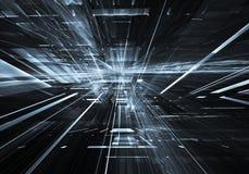 Fractalkunst - Bild des Computers 3D, technologischer Hintergrund Lizenzfreies Stockbild