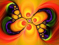 fractallampashow vektor illustrationer