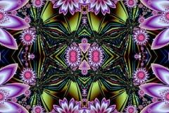Fractalmodell illustration Royaltyfria Bilder