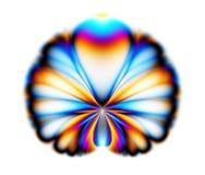 fractalpåfågel Royaltyfri Fotografi