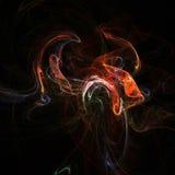 fractalrök stock illustrationer