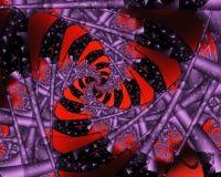 fractalrotering royaltyfri illustrationer