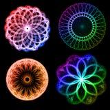 fractals λουλουδιών διανυσματική απεικόνιση