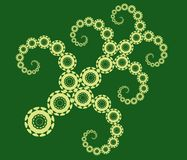 Fractals 5. Circular fractal tendrils Stock Photo