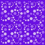 Fractals. Beautiful pattern with snowflakes on lilac background. Royalty Free Stock Photography