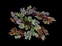 Fractals blom- prydnad för abstrakt begrepp på en svart bakgrund Royaltyfria Foton