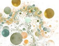 Fractals da bolha ilustração royalty free