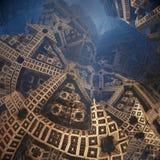 Fractals w postaci strzała Przedstawienie kierunek lub sposób Epicki abstrakcjonistyczny tło Zdjęcia Stock
