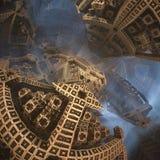 Fractals w postaci strzała Przedstawienie kierunek lub sposób Epicki abstrakcjonistyczny tło Zdjęcia Royalty Free
