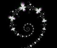 fractalspiral royaltyfria bilder