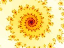 fractalspiral royaltyfri illustrationer