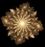 fractalsun Royaltyfri Foto