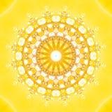 fractalsun royaltyfri illustrationer