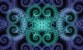 fractalswirls Arkivfoto