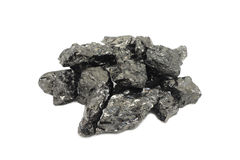 Fraction of black coal Royalty Free Stock Photo
