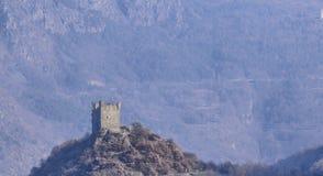 Fraction d'Ussel de Chatillon, ` Aosta, Italie de Valle d le 11 février 2018 Photo stock
