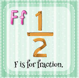 Fraction. Flashcard letter F is for fraction Stock Photography