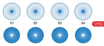 Fraction Pie clip art  for education on white background vector. Illustration Stock Photo