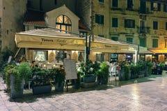 Fractionnement, Croatie Café dans la vieille ville images stock