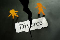 Fractionnement de divorce Photos libres de droits
