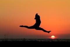 Fractionnements de coucher du soleil Images libres de droits