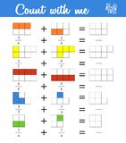 Fractions. Counting Game For Preschool Children. Educational A Mathematical Game Royalty Free Stock Image