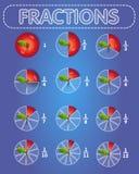Fractions a maçã na parte superior ilustração do vetor