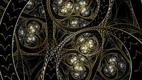 Infinite Circural style fractal art stock photo