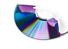 Fractura CD a través de la hoja de papel Fotografía de archivo libre de regalías