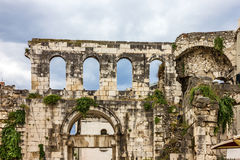 Fractura, Croatia Pared del palacio de Diocletian imagen de archivo libre de regalías