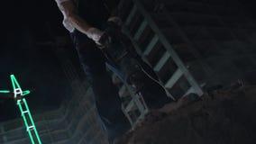 Fractura de Asphalt By Jackhammer almacen de video