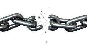 Fractura de cadenas ilustración del vector