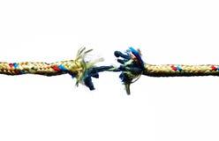 Fractura de la cuerda fotografía de archivo libre de regalías