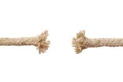 Fractura de la cuerda imágenes de archivo libres de regalías