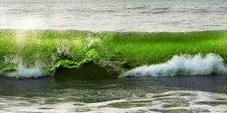 Fractura de la onda Imagen de archivo libre de regalías