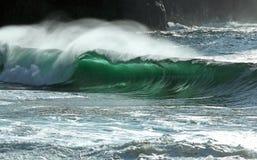 Fractura de la onda del irlandés Fotos de archivo libres de regalías