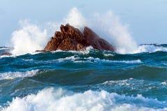 Fractura de las ondas Foto de archivo