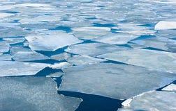 Fractura de masa de hielo flotante de hielo del resorte del mar japonés Foto de archivo libre de regalías