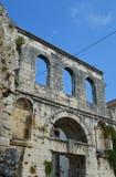 Fractura de plata del palacio del diocleziano de la puerta (Srebrna Vrata) Fotos de archivo