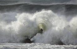 Fractura del detalle de la onda del mar Fotos de archivo