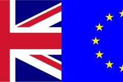 Fractura del divorcio de Brexit de la bandera de Reino Unido Union Jack y de la UE Euopean ilustración del vector