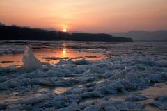 Fractura del hielo Imagen de archivo