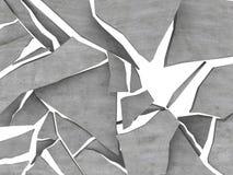 Fractura del hormigón Foto de archivo