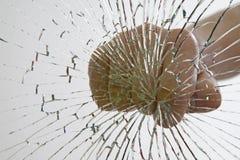 Fractura del vidrio Foto de archivo libre de regalías