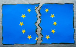 Fractura europea de la bandera Imágenes de archivo libres de regalías