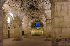 Fractura, subestructuras del palacio de Croacia Diocletian Foto de archivo libre de regalías