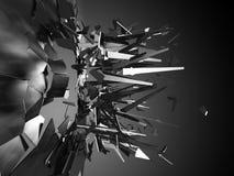 Fractura y explosión rota de los pedazos del vidrio Backgrou abstracto libre illustration