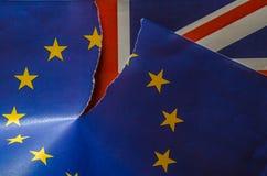 Fracturas de Brexit Reino Unido de la UE Fotografía de archivo