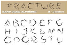 Fracture Alphabet Part One Royalty Free Stock Photography